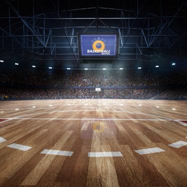 Parkett für die Basketballhalle