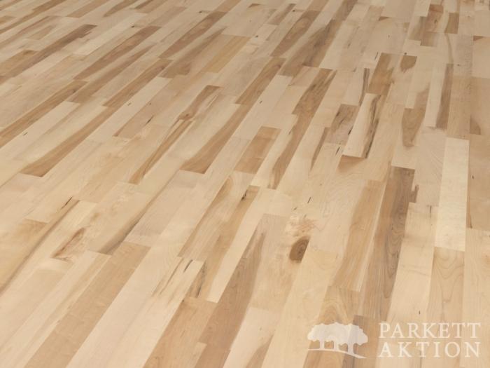 3 stab parkett ahorn lebhaft lackiert mit klick system de parkett. Black Bedroom Furniture Sets. Home Design Ideas