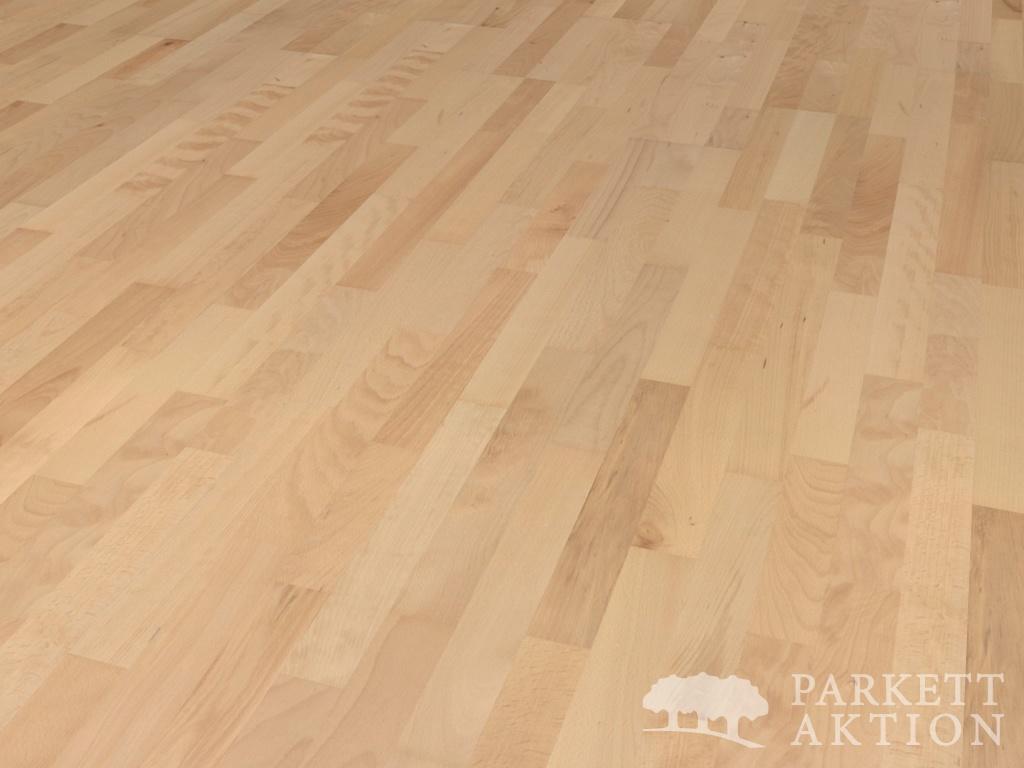 3 stab parkett buche natur lackiert mit klick system li parkett. Black Bedroom Furniture Sets. Home Design Ideas