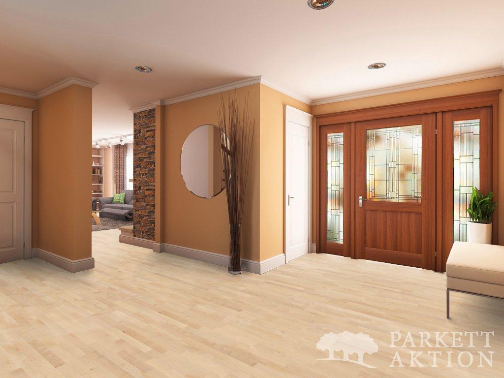 3 stab parkett ahorn natur lackiert mit klick system it parkett. Black Bedroom Furniture Sets. Home Design Ideas