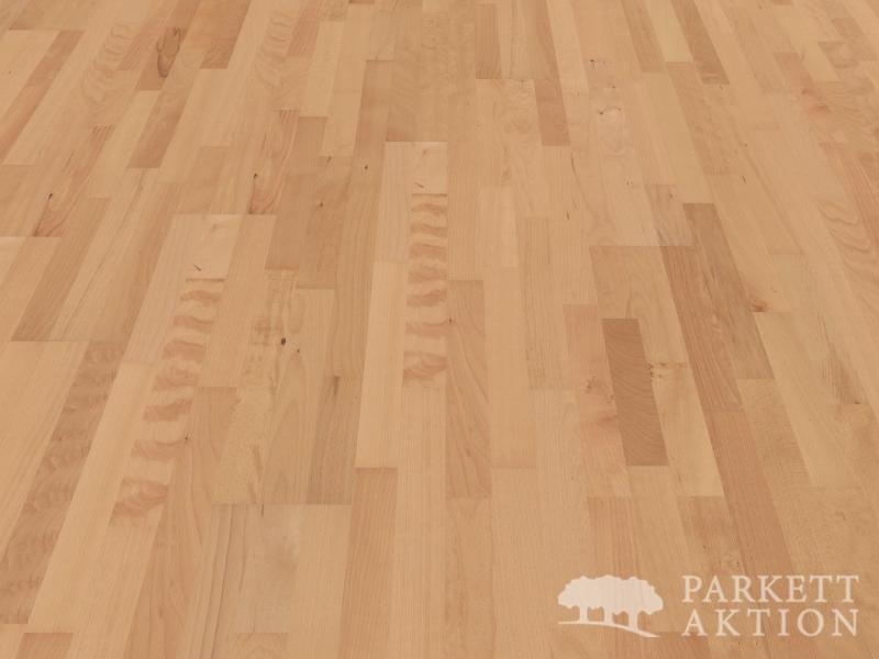 3 stab parkett buche natur lackiert mit klick system de. Black Bedroom Furniture Sets. Home Design Ideas