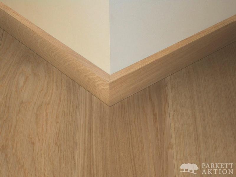 sockelleisten modern cube eiche hell natur matt lackiert. Black Bedroom Furniture Sets. Home Design Ideas