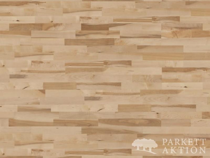 3 stab parkett ahorn lebhaft lackiert mit klick system parkett. Black Bedroom Furniture Sets. Home Design Ideas