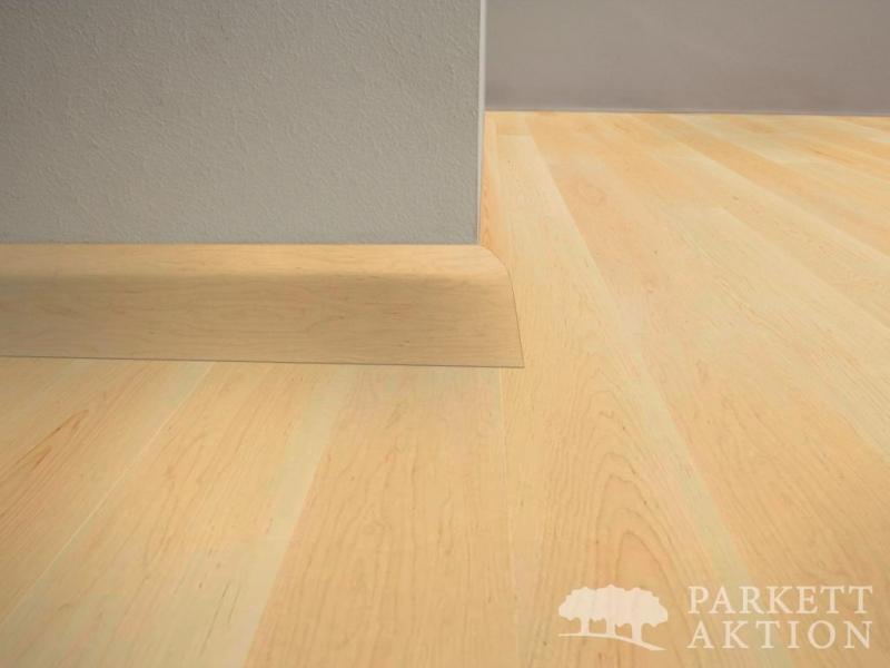 sockelleisten ahorn natur matt lackiert parkett. Black Bedroom Furniture Sets. Home Design Ideas