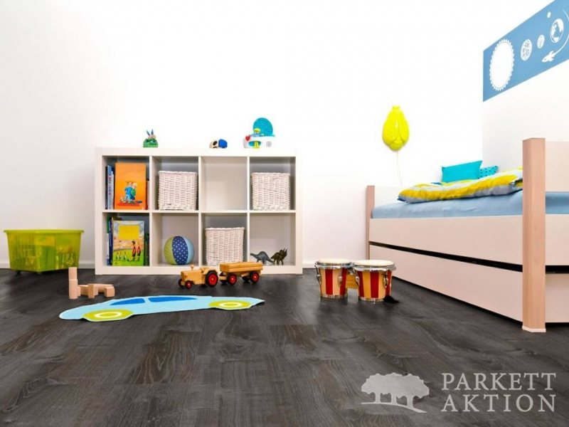 vinylboden eiche mocca geb rstet mit klicksystem in. Black Bedroom Furniture Sets. Home Design Ideas