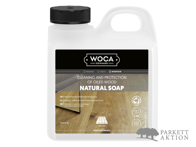 WOCA Holzbodenseife Natur farblos 1 Liter